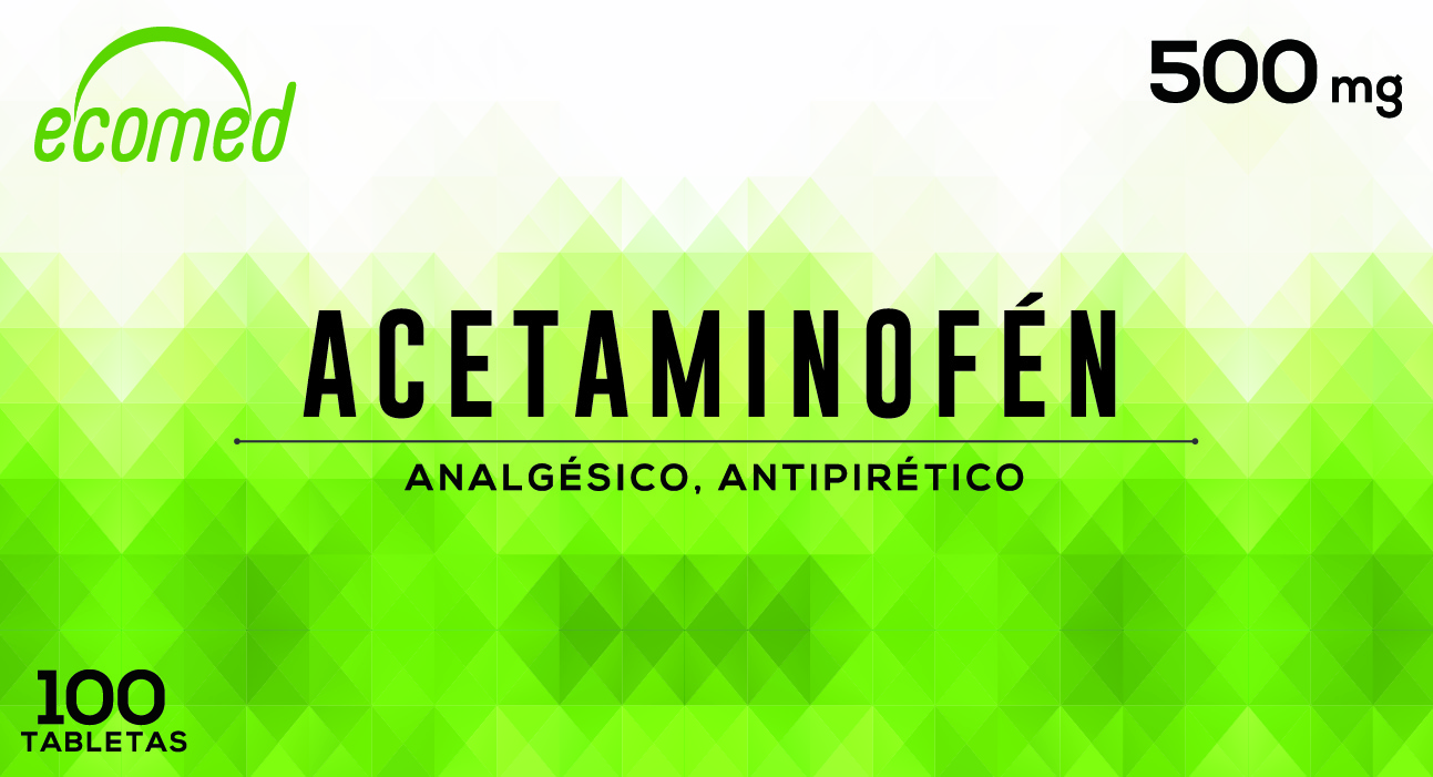 ACETAMINOFEN 500 MG C x 100 TAB. ECOMED N-01